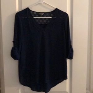 NWOT Papermoon by Stitch Fix navy blouse
